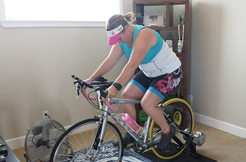 Triathlete Holt taking the USAT protocol threshold test - Trisport Coach Lois Marquart